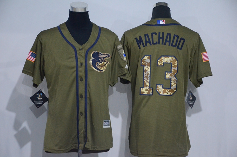 womens-2017-mlb-baltimore-orioles-13-machado-green-salute-to-service-stitched-baseball-jersey
