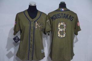 womens-2017-mlb-kansas-city-royals-8-moustakas-green-salute-to-service-stitched-baseball-jersey
