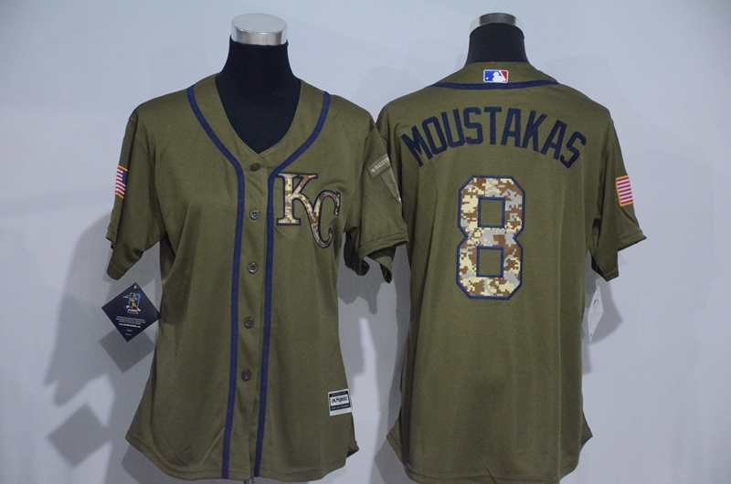 womens-2017-mlb-kansas-city-royals-8-moustakas-green-salute-to-service-stitched-baseball-jersey